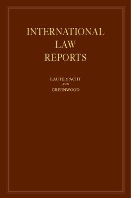 International Law Reports 160 Volume Hardback Set: Volume 91 - International Law Reports (Hardback)
