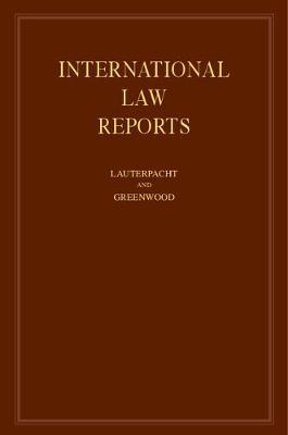 International Law Reports - International Law Reports (Hardback)