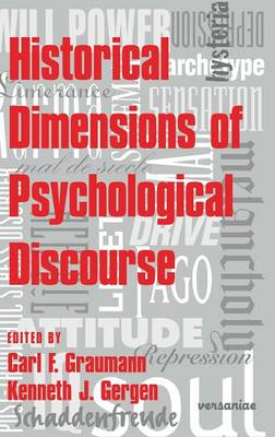 Historical Dimensions of Psychological Discourse (Hardback)