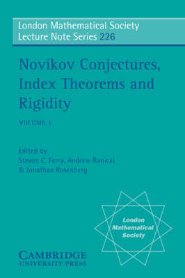 Novikov Conjectures, Index Theorems, and Rigidity: Volume 1: Oberwolfach 1993 - London Mathematical Society Lecture Note Series (Paperback)