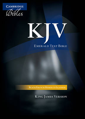 KJV Emerald Text Edition Black French Morocco Leather (Leather / fine binding)