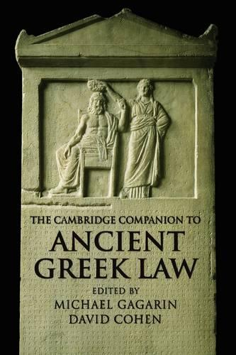 The Cambridge Companion to Ancient Greek Law - Cambridge Companions to the Ancient World (Paperback)