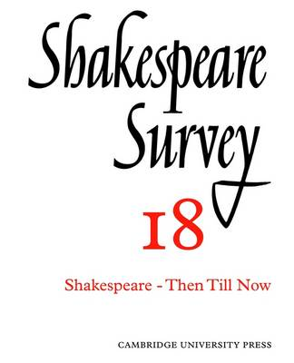 Shakespeare Survey: Shakespeare Survey Shakespeare and His Stage v.1 - Shakespeare Survey Paperback Set 17 (Paperback)