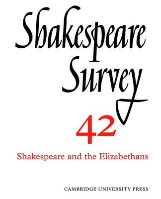 Shakespeare Survey - Shakespeare Survey Paperback Set 41 (Paperback)
