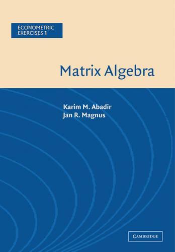 Matrix Algebra - Econometric Exercises 1 (Paperback)