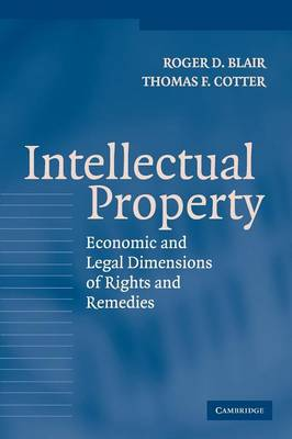 Intellectual Property: Economic and Legal Dimensions of Rights and Remedies (Paperback)