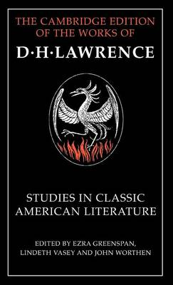 Studies in Classic American Literature - The Cambridge Edition of the Works of D. H. Lawrence (Hardback)