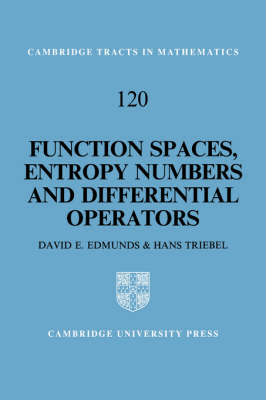 Function Spaces, Entropy Numbers, Differential Operators - Cambridge Tracts in Mathematics (Hardback)
