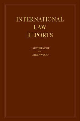 International Law Reports - International Law Reports 160 Volume Hardback Set (Hardback)