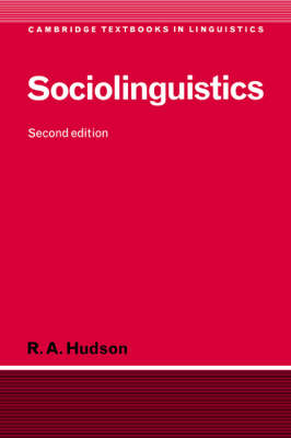 Sociolinguistics - Cambridge Textbooks in Linguistics (Hardback)