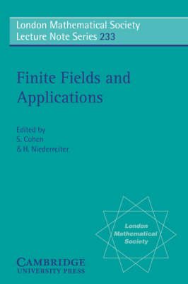 Finite Fields and Applications: Proceedings of the Third International Conference, Glasgow, July 1995 - London Mathematical Society Lecture Note Series 233 (Paperback)