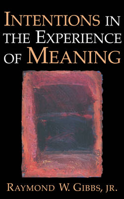 Intentions in the Experience of Meaning (Hardback)