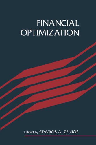 Financial Optimization (Paperback)