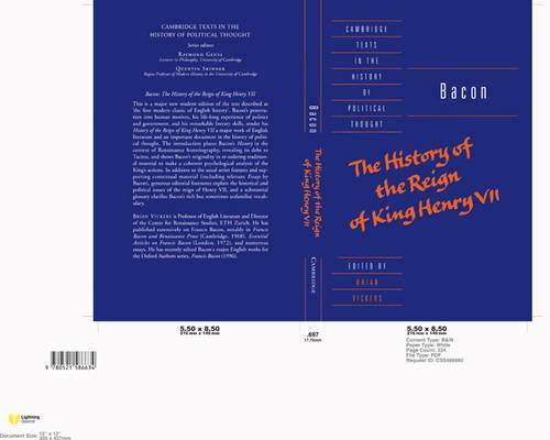 Bacon: The History of the Reign of King Henry VII and Selected Works - Cambridge Texts in the History of Political Thought (Paperback)