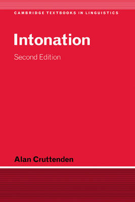 Intonation - Cambridge Textbooks in Linguistics (Hardback)