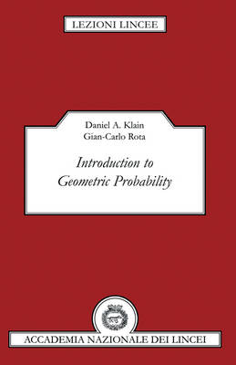 Introduction to Geometric Probability - Lezioni Lincee (Hardback)