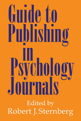 Guide to Publishing in Psychology Journals (Paperback)