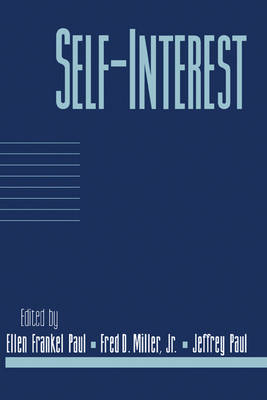 Self-Interest: Volume 14, Part 1 - Social Philosophy and Policy (Paperback)