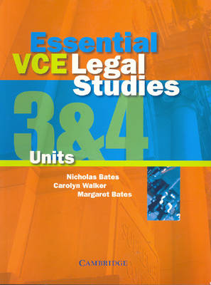 Essential VCE Legal Studies Units 3 and 4 (Paperback)