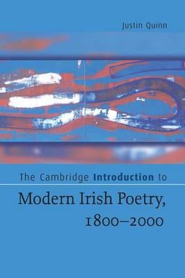 The Cambridge Introduction to Modern Irish Poetry, 1800-2000 - Cambridge Introductions to Literature (Paperback)