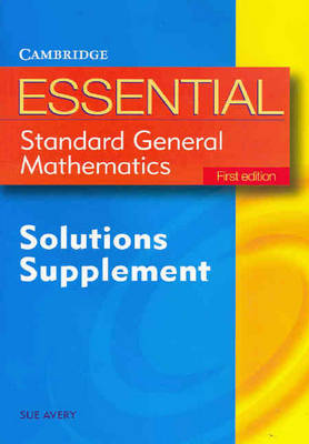Essential Standard General Maths First Edition Solution Supplement - Essential Mathematics (Paperback)