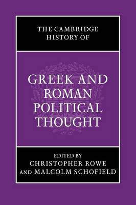 The Cambridge History of Greek and Roman Political Thought - The Cambridge History of Political Thought (Paperback)