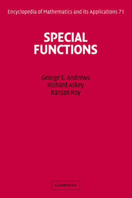 Special Functions - Encyclopedia of Mathematics and Its Applications 71 (Hardback)