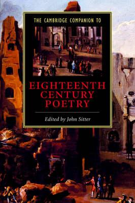 The Cambridge Companion to Eighteenth-Century Poetry - Cambridge Companions to Literature (Hardback)
