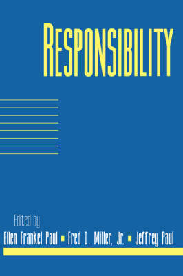 Responsibility: Volume 16, Part 2 - Social Philosophy and Policy (Paperback)