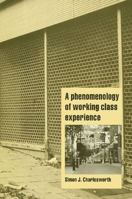 A Phenomenology of Working-Class Experience - Cambridge Cultural Social Studies (Paperback)