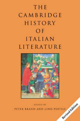 The Cambridge History of Italian Literature (Paperback)