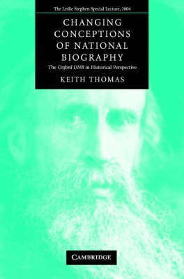 Changing Conceptions of National Biography: The Oxford DNB in Historical Perspective (Paperback)