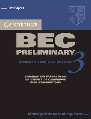 Cambridge BEC Preliminary 3 Self Study Pack - BEC Practice Tests