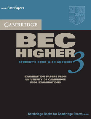 Cambridge BEC Higher 3 Self Study Pack - BEC Practice Tests