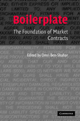 Boilerplate: The Foundation of Market Contracts (Paperback)