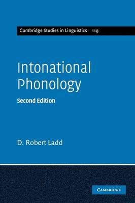 Intonational Phonology - Cambridge Studies in Linguistics (Paperback)