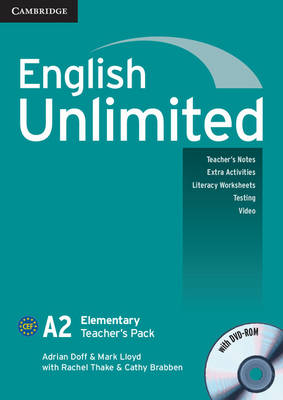 English Unlimited Elementary Teacher's Pack (Teacher's Book with DVD-ROM): English Unlimited Elementary Teacher's Pack (Teacher's Book with DVD-ROM) A2 elementary