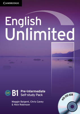 English Unlimited Pre-intermediate Self-study Pack (Workbook with DVD-ROM)