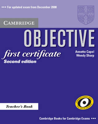 Objective First Certificate Teacher's Book - Objective (Paperback)
