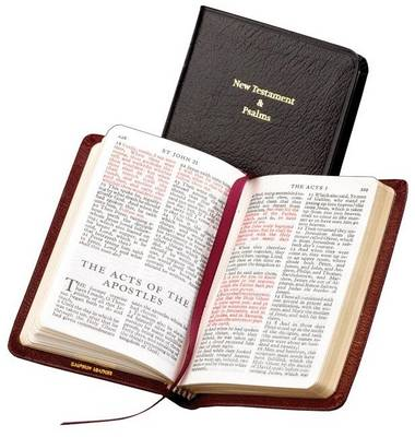 KJV Pocket New Testament and Psalms KJ113:NPR black French Morocco leather (Leather / fine binding)