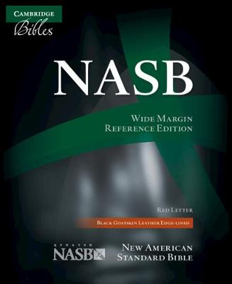 NASB Wide Margin Reference Bible, Black Edge-Lined Goatskin Leather, Red Letter Text NS746:XRME (Leather / fine binding)