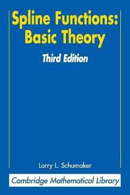 Spline Functions: Basic Theory - Cambridge Mathematical Library (Paperback)