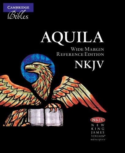 NKJV Wide Margin Reference Bible, Black Edge-Lined Goatskin Leather, Red Letter Text NK746:XRME (Leather / fine binding)