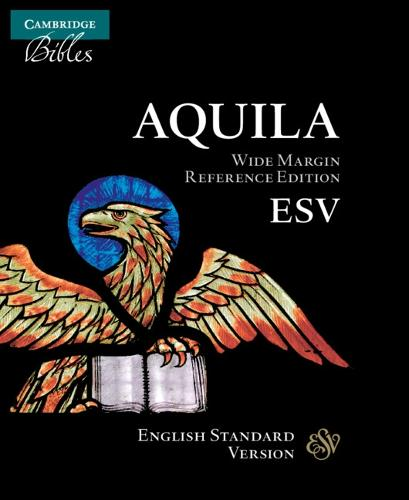 ESV Wide Margin Reference Bible, Black Edge-lined Goatskin Leather, Red-letter Text, ES746:XRME (Leather / fine binding)