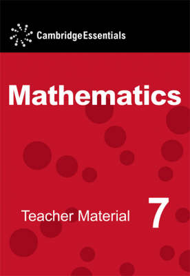 Cambridge Essentials Mathematics: Cambridge Essentials Mathematics Year 7 Teacher Material CD-ROM (CD-ROM)