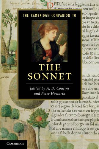 The Cambridge Companion to the Sonnet - Cambridge Companions to Literature (Paperback)