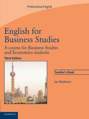 English for Business Studies Teacher's Book: A Course for Business Studies and Economics Students (Paperback)