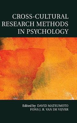 Cross-Cultural Research Methods in Psychology - Culture and Psychology (Hardback)