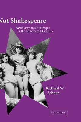 Not Shakespeare: Bardolatry and Burlesque in the Nineteenth Century (Hardback)