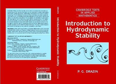 Introduction to Hydrodynamic Stability - Cambridge Texts in Applied Mathematics 32 (Hardback)